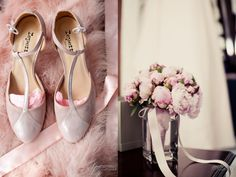 Reportage details preparatifs de la mariée chaussures repetto rose poudré bouquet de fleurs lovely detail pink shoes flowers   modaliza photographe www.modaliza.fr