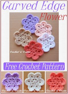 Free crochet pattern for pretty flower applique, find it on crochetncreate. Crochet Flower Patterns, Flower Applique, Crochet Designs, Crochet Flowers, Crochet Bows, All Free Crochet, Knit Or Crochet, Baby Cardigan Knitting Pattern Free, Crochet Flower Tutorial