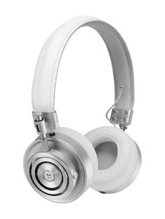 MH30 Foldable on Ear Headphones with Stand by Master & Dynamic | white leather/silver metal stand: silver steel | Gilt