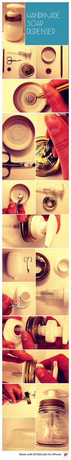 Handmade soap dispenser! #DIYCraftsEditor #DIY #iOS