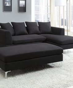 Look at this #zulilyfind! Charcoal Levan Sectional Sofa by HomeBelle #zulilyfinds