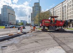 #press #construction of the streets around #karlmarxallee for #formulae started! #berlin #alexanderplatz #fernsehturm