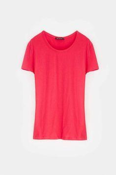 plain coloured t-shirt  donna  online