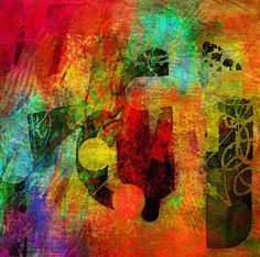 The Old Cells Studio - Michèle Brown Art: Bright Sunday - iPad drawing #colorful #abstract #art