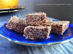 """smakoterapia """"Sesame"""" - SWEET portion of health for allergy sufferer Food Cakes, Healthy Sweets, Allergies, Cake Recipes, Food And Drink, Gluten Free, Sugar, Treats, Snacks"""