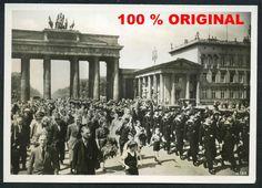 orig. WK2 PK FOTO - EHRENWACHE DER KRIEGSMARINE IN BERLIN 1941 BRANDENBURGER TOR