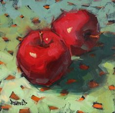 Dots and Apples, painting by artist Cathleen Rehfeld