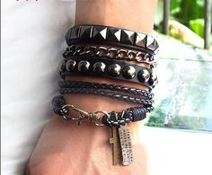 Hey, I found this really awesome Etsy listing at http://www.etsy.com/listing/107081440/puck-rock-bracelet-couple-bracelet