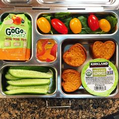 My daughter's @planetbox lunch for Thursday is organic hummus with pretzels, baby spinach and grape tomatoes, cucumbers, applesauce (I need to go grocery shopping!), and @yumearth gummy worms. #lunch #bento #bentobox #organic #organicfood #healthy #healthyfood #healthykids #healthylife #healthyeating #Healthyfamily #instafood #instagood #eatyourveggies #eattherainbow #cleaneats #cleaneating #healthychoices #picoftheday #foodpic #foodie #eeeeeats #feedfeed #yum #healthymeals #kidslunch…