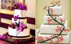 Bolos decorados com flores