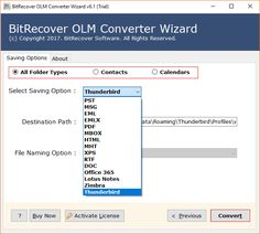 Convert OLM to Thunderbird Including Emails, Attributes and Contacts