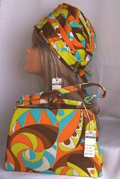 Purse & Hat Mod 1960s handbag psychedelic by PursonalBaggage2