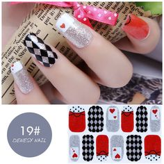 NAIL WRAPS STICKERS - Full Self Adhesive Polish Foils Decoration Art Decals 019#