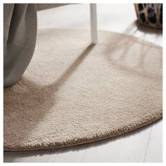 STOENSE Rug, low pile, off-white. The thick, soft-spun pile is all about comfort, combined with gentle colors and a light sheen that bring harmony to the room. Ikea, Wet Spot, Professional Carpet Cleaning, Diy Case, Underfloor Heating, Types Of Flooring, Grey Carpet, Round Rugs, White Rug