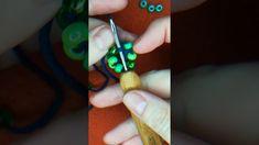 Egyenes gyöngy horgolás- óriás gyöngyökkel