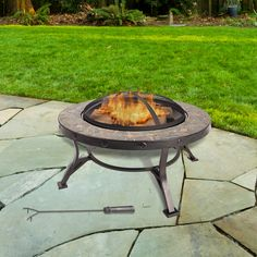 The #new Charlotte Slate Fire Pit! #NewProducts #holidays #mom www.ghpgroupinc.c...