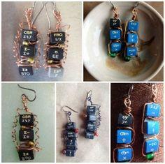 Upcycled Calculator Earrings