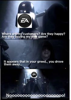 Have you heard the tragedy of EA Games the Greedy? It's not a story the gamers would tell you…
