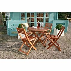 garden table and chairs folding wooden patio furniture outdoor 4 seat dining set vivere hammocks uhsdo8 8 ft double hammock with stand    outdoor      rh   pinterest