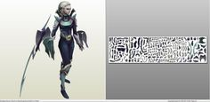 Papercraft .pdo file template for League of Legends - Diana.