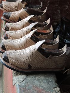 Traditionally handcrafted leather huaraches from Mazamitla, Jalisco