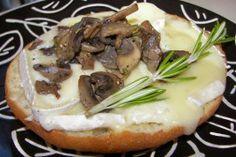 Divine Brie, Mushroom and Rosemary Bruschetta