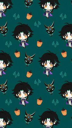 Anime Wallpaper Phone, Wallpaper Backgrounds, Animes Wallpapers, Cute Wallpapers, Character Wallpaper, Animation, Albedo, Cute Icons, Pattern Wallpaper