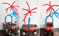 Christy Bergerson from Itsy Belle shares the simple steps to make firework balloons and deck out a DIY Fourth of July parade wagon that's sure to delight!