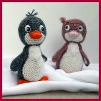 Pareja de pinguinos amigurumis