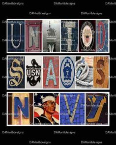 U.S. Navy Framed Alphabet Photo Art by DAMartndesigns on Etsy, $35.00 www.facebook.com/DAMartdesigns
