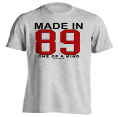 127th Birthday Gift T-Shirt - One of a Kind - Born in 1889 Short Sleeve Mens T-Shirt