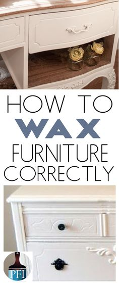 Learn the correct way to apply wax over paint to get a good covering. This DIY home decor project gives you a durable surface!