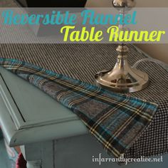 I was in Joann Fabrics and saw some fun flannel houndstooth and plaid fabric that I thought would make a great reversible table runner for the fall season. This project is so simple. It took me a...