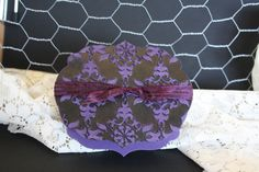 Gift Box, elegant eggplant with black emboss