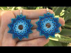 Seed Bead Earrings, Beaded Earrings, Etsy Earrings, Crochet Earrings, Beading Tutorials, Beading Patterns, Mandala, Earring Tutorial, Bead Jewellery