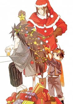 naruto hashirama senju x madara uchiha obito uchiha - Naruto Christmas