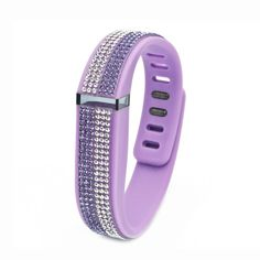 Fitbit Flex Purple Replacement Band with Crystal and Tanzanite Swarovski  Elements - Allure Collection
