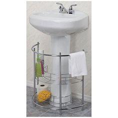 Pedestal Sink Organizer   Chrome