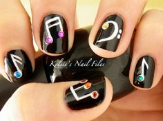music note nails!!!!!