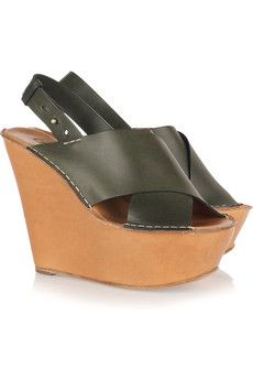 Chloe never disappoints. Great summer wedge and more of the fab neutral green that I'm seeing everywhere.
