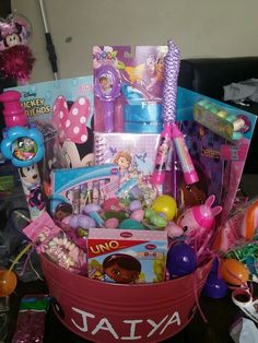 Doc mcstuffins tutu gift basket made by normas unique gift doc mcstuffins dora minnie mouse sofia the first easter basket all in negle Images