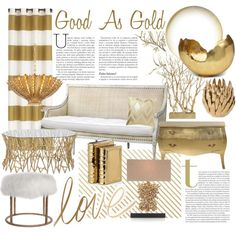 Good As Gold on Polyvore