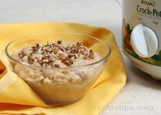 Slow Cooker Overnight Oatmeal Recipe