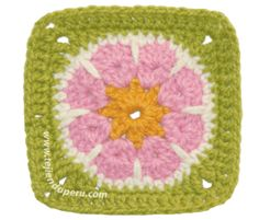 Cómo tejer una flor africana o african flower a crochet en forma de cuadrado!