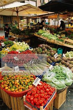 Fruit and Vegetable Stand Rome, Italy
