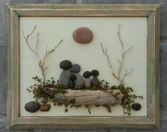 Pebble Art / Rock Art Family of Five sitting on a by CrawfordBunch