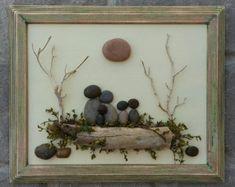Pebble Art / Rock Art Family of Five in an open by CrawfordBunch
