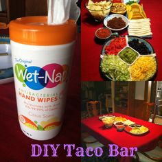 DIY Taco Bar ideas. Great for parties or even just a special family dinner. #PMedia #ShowUsYourMess #Sponsored