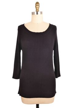 George 3/4 Sleeve Black Sweater Size XL   ClosetDash #fashion #style #tops #blouses