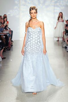 ELSA INSPIRED WEDDING DRESS FROM ALFRED ANGELOS 2015 DISNEY BRIDAL COLLECTION <3333